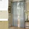 Elegant European Style Sheer Polyester Voile Curtain Jacquard Curtain Latest Design For Living Room