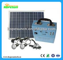 Mini solar lighting system 5W solar light kit for home