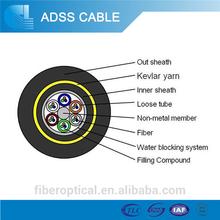 Outdoor ADSS kevlar 10 core multi mode fiber optic cable