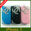 diamond for iphone 5 leather case