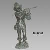 Modern Garden Bronze Children Statue Boy Playing the Flute Sculpture