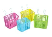 2015 new design plastic storage basket with hook