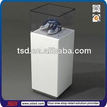 TSD-W299 custom shoe display case/glass shoe display stand/shoe showcase