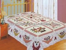 Cotton flower quilt sets applique bedspreads