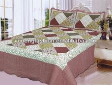 Microfiber patchwork quilt/ patchwork bedspreads