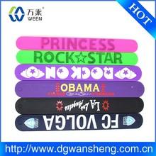 2014 silicone slap wrap band/popular silicone slap band/slap bracelets