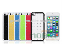 For Apple Iphone 5C durable luxxury diamond studded glow in dark polycarbonate case