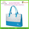 High School Girls Blue Canvas Cheap Cute Tote Bag School