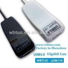 USB3.0 Gigabit Lan adapter RJ45 Ethernet network card adapter support 10M,100M,1000Mbps