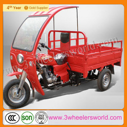 chinese three wheel cargo motorcycles/adult cargo tricycle with cabin