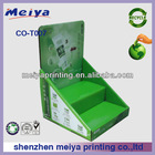 2014 hot 2 tiers green recycled cardboard paper counter top display box for hand cream promotion cosmetics with high quality
