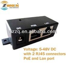1port passive poe injector--passive POE injector for Wall Mount, for Mikrotik, Tranzeo, OpenMesh, Ubiquiti