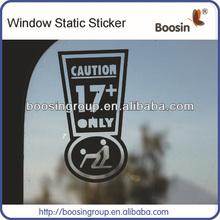 Window Clear Static Cling Sticker,PVC Static Stickers