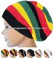 Rasta reggae& los hombres las mujeres ganchillo hecho a mano de punto elástico trenzado baggy sombrero