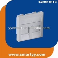 RJ45 Flat Face plate 45*45mm 2 ports network