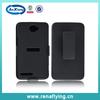 hard shell cell phone case swivel holster combo for alcatel ot8000