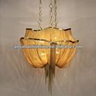 Atlantis Chandelier - Two Tier/ Gold Chain Chandelier Lighting