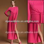 2014 hot sale high slit ladies kaftan maxi dress