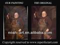 2014 popular clássica pintura a óleo retrato com 100% handmade