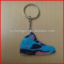 Blue Blk AJ 5 jordans basketball shoes keyring