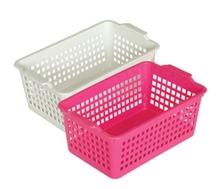 2015 new square plastic storage basket on hot sale