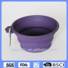Pet feeder,silicone collapsible pet feeder,portable pet bowl