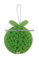 2014 new green beautiful bath massage sponge for men bath