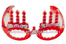 flashing LED birthday candles glasses wood framed glass doors(W6005)
