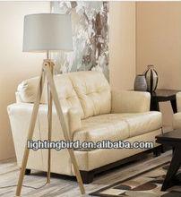 Tripod Stand Fabric Design Wood Floor Lamp/Italian lighting made in china zhongshan