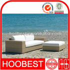 Outdoor rattan settee, Factory Manufacturer Direct Wholesale, Relaxing comfortable wooden color wicker 3 seater sofa ottoman set