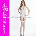 dantel beyaz artı boyutu 3 adet bayan seksi transparan kıyafeti