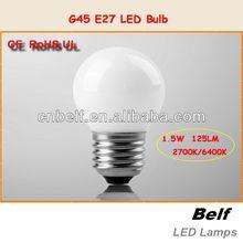 360 Degree Epistar CE ROHS UL G45-1.5W led bulb lighting