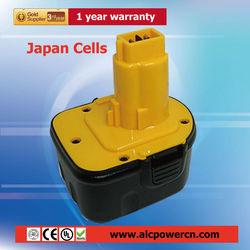 power tool electric drill battery 12V for DEWALT DW9071 DW9072