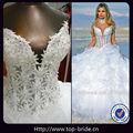 tl01 real com contas de moda de luxo inchado vestido de casamento árabe foto