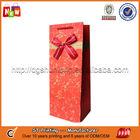 Custom printed luxury gift wine bottle paper bags