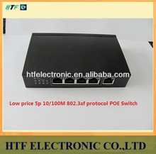 full test 5p 10/100M Unmanaged full duplex POE Network Switch metal case