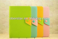 manufactorer contrast color case cover for ipad/ for ipad pu leather case cover