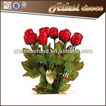 Foiled Milk Chocolate Long Stem Roses