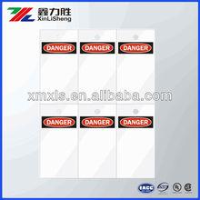 Laser Printable Tags, Danger Header