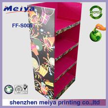 China factory 4 tier cardboard display stand,food display floor display for cake