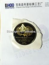 custom gold epoxy resin dome metal sticker,metal furniture sticker