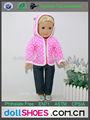 corte de color rosa 18 pulgadas de ropa de la muñeca american girl vestido de la muñeca bebé nacido trajes de muñeca
