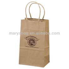 "Recycled Brown Kraft Promotional Shopping Bag - 5.25""w x 8.38""h x 3.25""d"