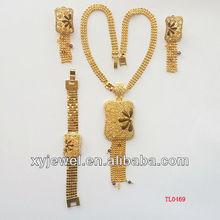 18k meaningful ethnic pendant necklace arabic wedding jewelry sets