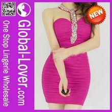 2014 Newest Short Sleeve Peplum Dress