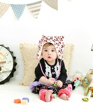 Japan wholesale cute and high quality leopard pattern baby hat with cotton strap