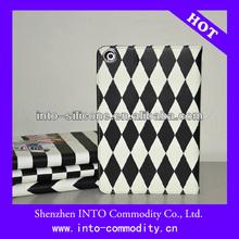 Black and White Zebra Bar Design Leather Case For Ipad 5