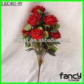 9 chefes rosa vermelha de fazer arranjos de flores artificiais