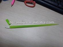 soft Silicone green leaf figure grass ballpoint pen