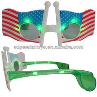 flashing party glasses, 12LED single color swan flash glasses